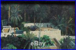 Terrasses à Laghouat, Algérie, P. L. Beaumont vers 1930, orientaliste