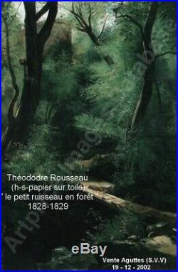 Théodore Rousseau 1812-1867. Magnifique & Rare Peinture 1830. Le Moulin A Eau