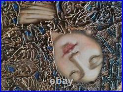 Titov eugene 24X33 peintre russe peinture à la feuille d'or