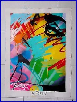 Toile Originale de Alexis D. Dit Phantom, Street Graffiti Art