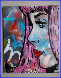 Toile Originale de Deviz, Street Art Graffiti