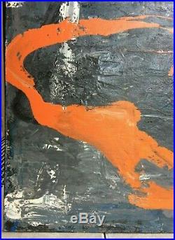 Tony SOULIE (né en 1955) Nouvelle Abstraction, Volcan, HST 100X100 1989