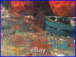 Très belle tableau Peinture originale style impressionniste HST Marine Signée