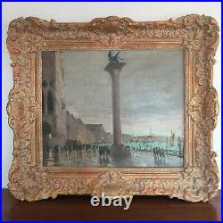 VENISE Place Saint-Marc superbe huile sur toile post-impressionniste SIGNÉE