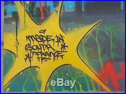 Vandal Peinture Originale sur Toile de Blazer, Street Art Graffiti