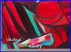 Veksler / Peintre Russe / Oeuvre Originale & Signee / L'etreinte Voluptueuse