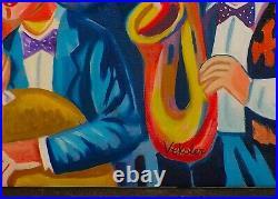 Veksler / Peintre Russe / Oeuvre Originale & Signee / Serenade