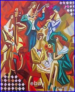 Veksler / Peintre Russe / Oeuvre Originale & Signee / Sunday Afternoon