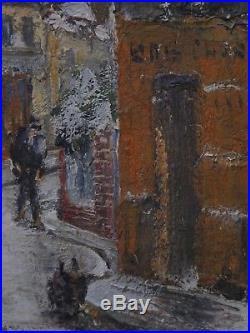 Vieux Saint-Ouen sous la neige. Grand tableau de Raymond BESSE (1888-1969)