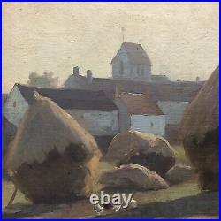 WISLIN Charles Peinture Chevrainvilliers Meule Poule Nemours Fontainebleau XIXèm