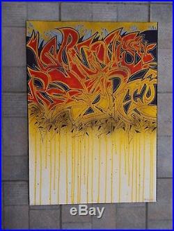 Wild Style Peinture Originale sur Toile de Ray Bracko, Street Art Graffiti