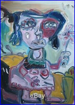 XXeme Loulé thierry, art moderne, international, Femme a fleur, Paris