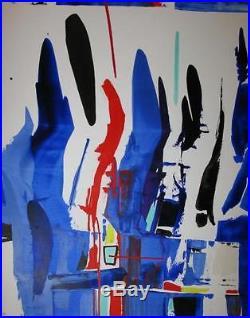 Xavier zevaco huile sur toile oeuvre unique ecurie denise rene 1995