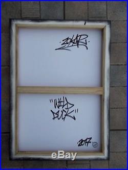 Zokar Peinture Originale sur Toile, Street Art Graffiti